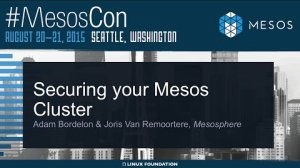 Embedded thumbnail for Securing your Mesos Cluster