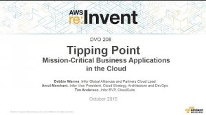 Embedded thumbnail for AWS re:Invent 2015 | (DVO208) Mission-Critical Business Applications in the Cloud